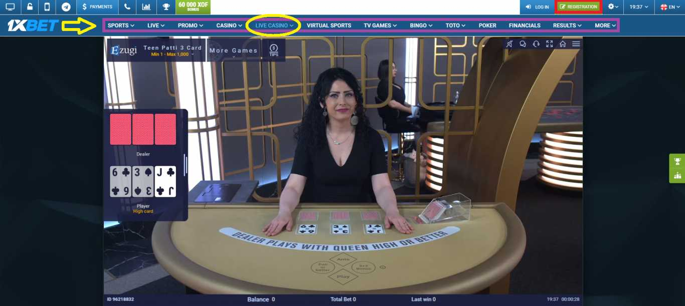 1xBet casino games review